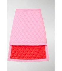 burberry asymmetric diamond quilted skirt
