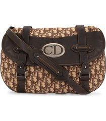 christian dior pre-owned traveller trotter crossbody bag - brown