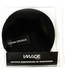 esponja removedora de maquiagem image makeup - preta 1 un