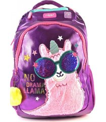 mochila violeta kooshi llama