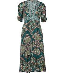 insanely right long dress knälång klänning grön odd molly