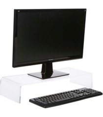 mind reader acrylic monitor stand riser for computer, laptop, imac, dell
