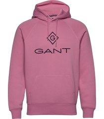 d1. color lock up hoodie hoodie trui roze gant