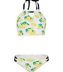 bikini a bustier (set 2 pezzi) (giallo) - rainbow