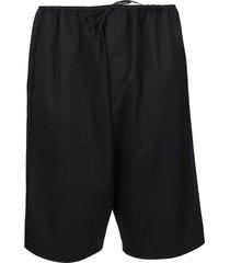 y-3 black wool blend shorts