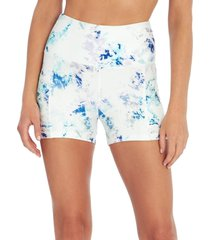 marika women's sky yoga shorties - crystal dye sodalite x-large spandex