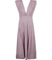 philosophy di lorenzo serafini flared sleeveless check dress
