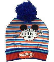 gorro azul disney mickey invierno funny store