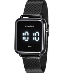 relógio digital mondaine feminino - 32151gpmvpe1 preto