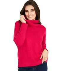 sweater cuello alto fucsia nicopoly