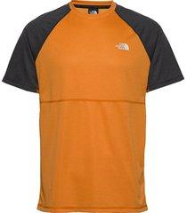 m varuna s/s tee t-shirts short-sleeved orange the north face