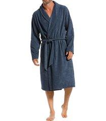 pastunette badjas met shawlkraag blauw