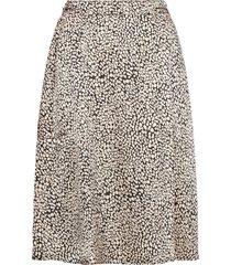 katinka skirt aop kort kjol beige moss copenhagen