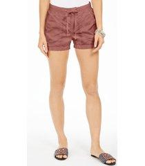 style & co petite knit-waistband poplin shorts, created for macy's