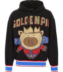 dolce & gabbana golden pig hoodie