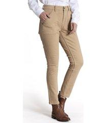 jeans mujer lise algodón beige rockford