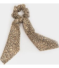 brenda abstract leopard pony scarf - leopard