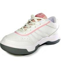 zapatillas tenis topper lady tie break iii mujer blanco
