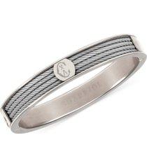 charriol logo bangle bracelet in stainless steel