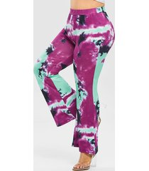 plus size high rise tie dye flare pants