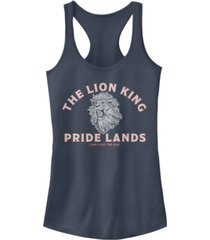 disney juniors' lion king minimal lion king back ideal racerback tank top