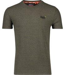 superdry vintage t-shirt olijfgroen gemeleerd