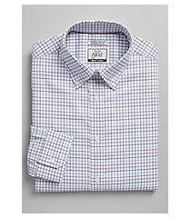 1905 collection extreme slim fit button-down collar multi check dress shirt with brrr°® comfort clearance, by jos. a. bank