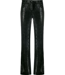 chanel pre-owned 2004 textured trousers - black