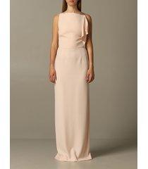 emporio armani dress long emporio armani dress with satin and cady bow