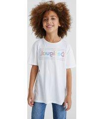 basic organic cotton t-shirt logo - white - 13/14