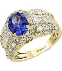 effy women's tanzanite royalé 14k yellow gold & multi-stone ring - size 7
