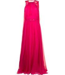 zuhair murad multiway-cape flyaway cape gown - pink