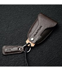 handmade real leather key case bag universal fit bmw mercedes cadillac lexus jag