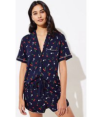 loft cherry pajama top
