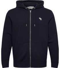 exploded icon sweatshirt hoodie blå abercrombie & fitch