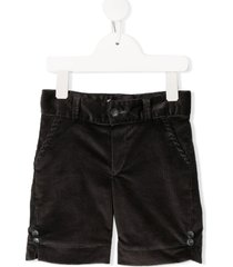 siola button-embellished corduroy shorts - grey