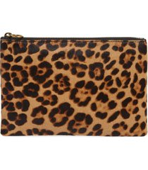 madewell the leather pouch clutch in genuine calf hair -
