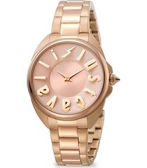 logo rose goldtone stainless steel bracelet watch