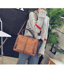 pu leather classic large handbags sac a main tote vintage fashion shoulder bags