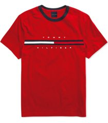 tommy hilfiger adaptive men's tino t-shirt with magnetic closure at shoulders