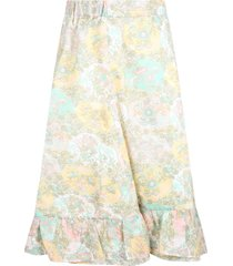 bonpoint multicolor skirt for girl with prints