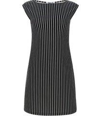 vestido lineas verticales color blanco, talla xs