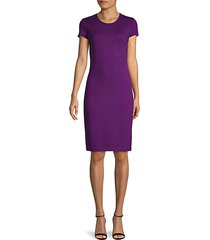 santana knit wool-blend sheath dress