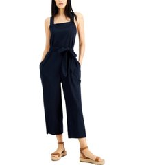 inc square-neck tie-waist jumpsuit, created for macy's