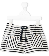 emile et ida striped casual shorts - blue