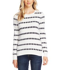 vince camuto jacquard-dot sweater