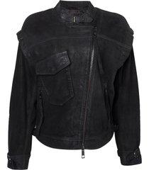 jaqueta john john cool couro preto feminina (preto, gg)
