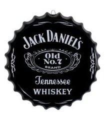 placa tampa de garrafa decorativa 35 cm jack