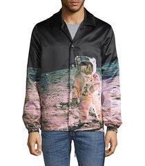 graphic spread-collar shirt