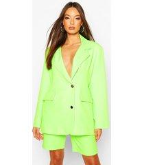 neon oversized blazer, neon-green